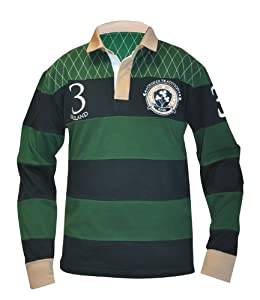 Croker Green and Navy Traditional LS Rugby-M