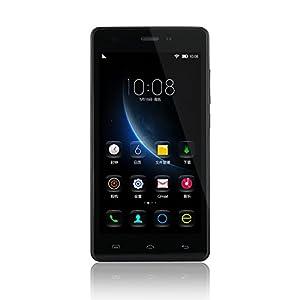 Upgraded Doogee X5 Pro 4G FDD-LTE 5 inch MT6735 64Bit Quad Core Android 5.1 Dual Sim Dual Camera 2GB RAM 16GB ROM Bluetooth 4.0 OTG OTA GPRS Smart Gestures Support Smart Phone (Black)