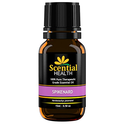 Spikenard Essential Oil By Scential Health 15ml (.5oz) 100% Certified Pure Therapeutic Grade Essential Oil With No Fillers, Bases or Additives AND ZERO Carrier Oils