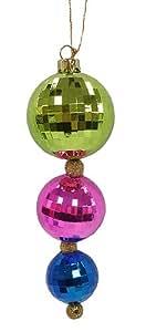 """8"""" Colorful Disco Ball Trio Christmas Ornament"""