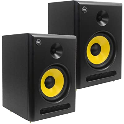 Seismic Audio - Spectra - 8P - Pair of Active 2 - Way 8-Inch Studio Reference Monitors - 95 Watts RMS - Studio Monitors by Seismic Audio Speakers, Inc.