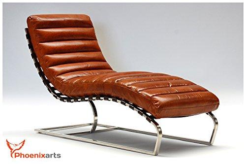 Chaise-Echtleder-Vintage-Leder-Relaxliege-Design-Recamiere-Liege-Sessel-Chaiselongue-Ledersessel-NEU-536