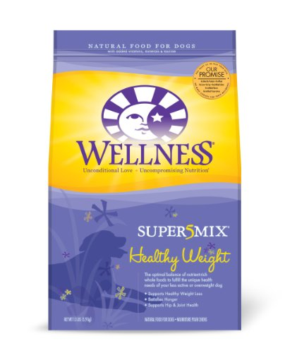 Wellness Super5Mix Healthy Weight Recipe Dog Food, 13-Pound bag