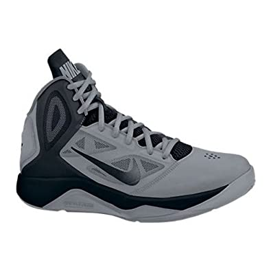 Buy Nike Dual Fusion BB II Grey Black Mens Basketball Shoes by Nike