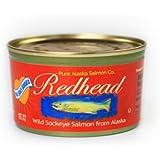 No Salt Added Wild Alaska Redhead Sockeye Salmon (12) 7.5 Oz Cans