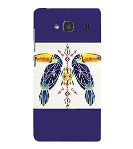 printtech Bird parrot Ethnic Pattern Back Case Cover for Xiaomi Redmi 2S::Xiaomi Redmi 2::Xiaomi Redmi 2 Prime