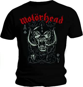 Official T Shirt MOTORHEAD Overkill PLAYING CARD Logo Vintage S