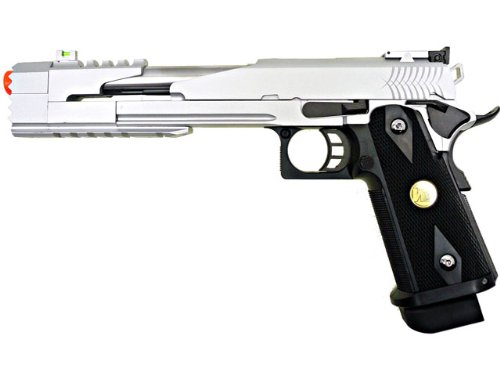 we hi-capa 7 dragon silver gas/co2 blowback full metal(Airsoft Gun) (Full Metal Blowback Green Gas compare prices)