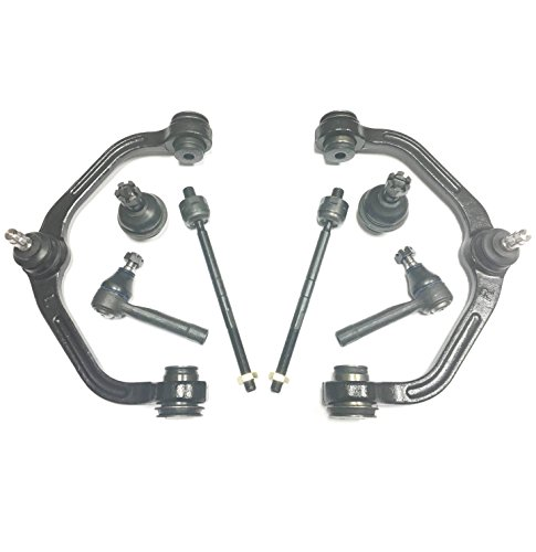 PartsW 8 Piece Suspension Kit For Ford Explorer Ranger, Mazda B2500 B3000 B4000 & Mercury Mountaineer Front Lower Ball Joints Control Arms Inner Outer Tie Rod for Torsion bar, 1 Piece design only (Parts For 2001 Ford Explorer compare prices)