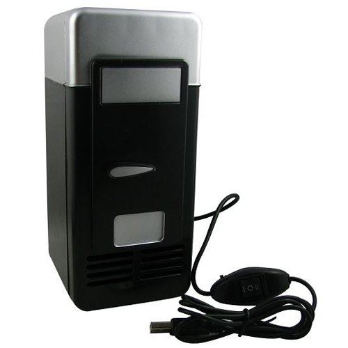Great Deal! IMAGE® Mini USB-Powered Fridge Cooler for Beverage Drink Cans in Cubicle and Home offic...