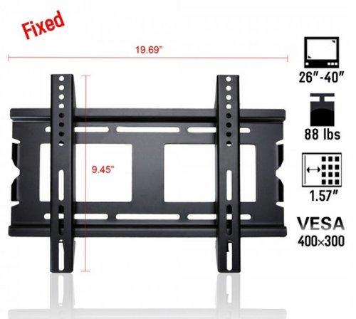 "Fast Shipping + Free Tracking Number, Vesa 400 X 300, Ultra-Slim Load Capacity 88Lbs 26-40"" Flat Panel Screen Lcd Led Plasma Tv Wall Mount Bracket front-124668"