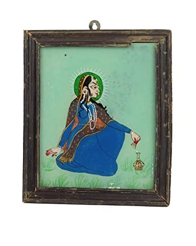 Uptown Down Hand-Painted Maiden on Glass