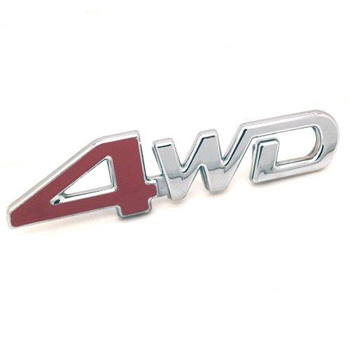 Stanniz(TM) 3D Chrome Red 4X4 4WD Four Wheel