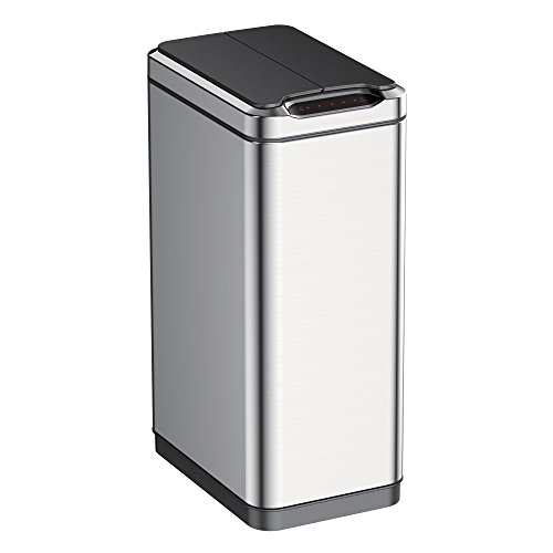 EKO 50L Phantom Sensor Trash Can, Stainless Steel (Butterfly Open Garbage Can compare prices)