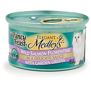 Fancy Feast Elegant Medleys Wild Salmon Florentine Adult Canned Cat Food in Sauce