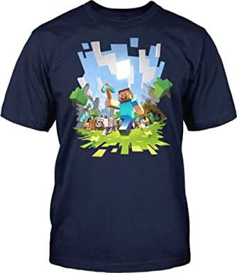 Minecraft - Adventure - Adult Blue T-shirt Small