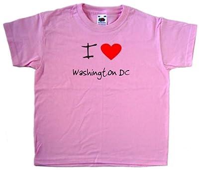 I Love Heart Washington DC Pink Kids T-Shirt