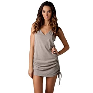 Eco Swim Women's Eco Covers Tank Dress Swim Cover Up Khaki XL