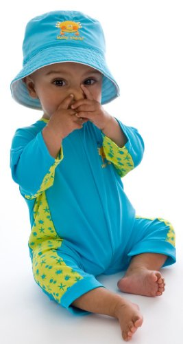 Splash About Uv All-In-One Suit (Sun Protection), Bobbing Along Turquoise, 6-12 Months front-205152