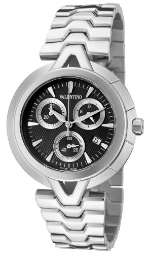 Valentino V-Valentino Chronograph Stainless Steel Mens Casual Watch Black Dial V51LCQ9909-S099