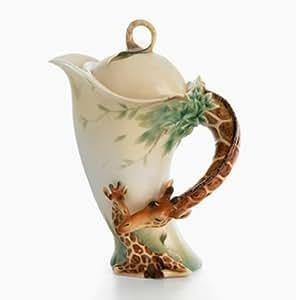 Franz Porcelain Endless Beauty Giraffe Design Sculptured Porcelain Teapot