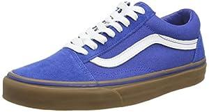 Vans Unisex Old Skool (Gumsole) Olympn Blue/Md Gum Skate Shoe 7.5 Men US / 9 Women US