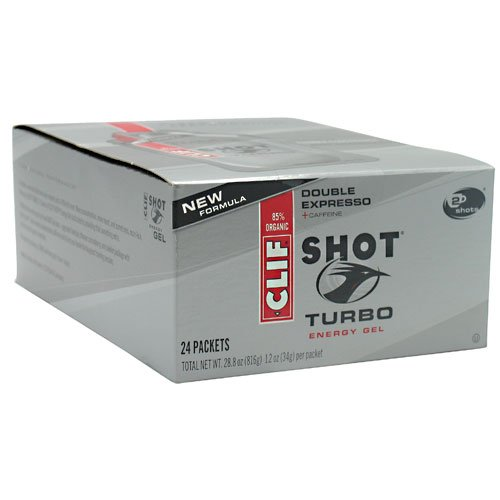 Clifbar Clifbar Clif Shot Energy Gel - 24 Pack Double Espresso-Turbo, One Size Double Espresso-Turbo, One Size - Men'S