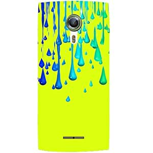 Casotec Neon Paint Design Hard Back Case Cover for Alcatel Onetouch Flash 2