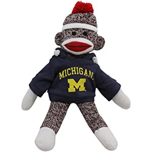 Michigan Wolverines 11'' Team Sock Monkey