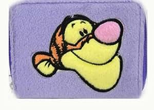 Disney Tigger plush wallet Coin Purse (1 pc: Purple color) [Toy]