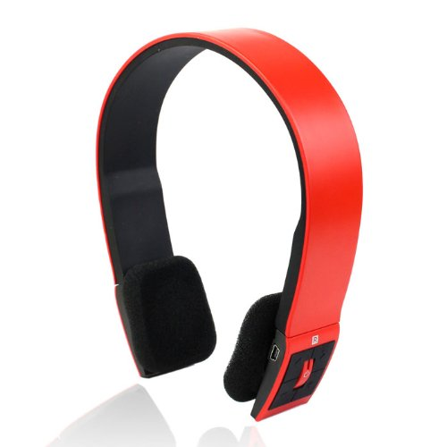 Amcctvshop Red Wireless Bluetooth Stereo Headset Headphone Earphone For Iphone Samsung Htc