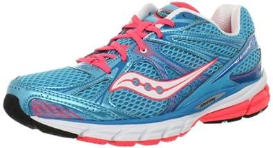 Saucony Women's Guide 6 Running Shoe,Blue/Vizipro Coral,6 M US