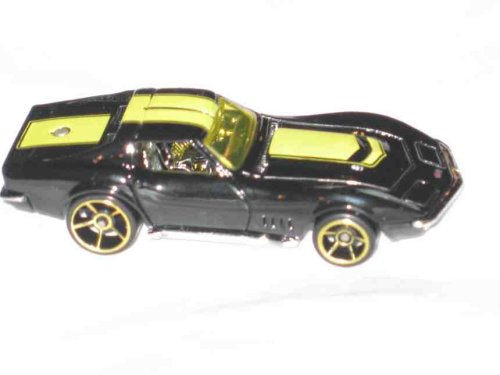 2008 Mystery Car Series 1969 Corvette Black With FTE Wheels Collectibles Collector Car 2008 Hot Wheels 2008