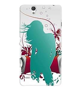 Printvisa Green Musical Girl Pic Back Case Cover for Sony Xperia C4 Dual E5333 E5343 E5363::Sony Xperia C4 E5303 E5306 E5353
