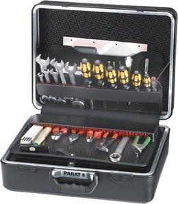 Schalenkoffer X-ABS 470x355x190mm Doppel-Alu.-Rahmen PARAT schwarz