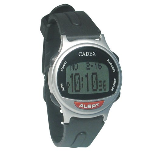 Medication aids the e pill cadex 12 alarm medication reminder watch silver for Cadex watches