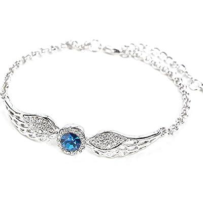 EIGA Hollow Angel Wings Cubic Zirconia Bracelet