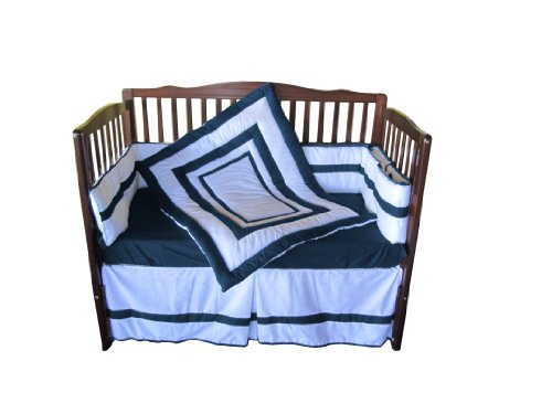Baby Doll Modern Hotel Style Crib Bedding Set, Navy