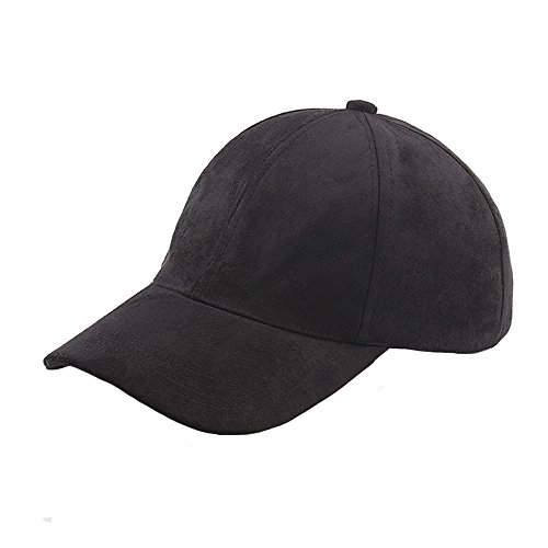 vancol-soft-faux-leather-suede-hat-baseball-cap-unstructured-black