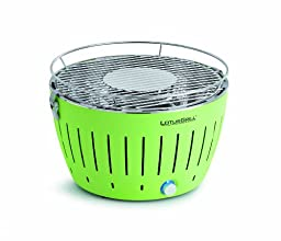 Artland Lotus Grill Portable Grill with Transport Bag, Lime Green, Regular