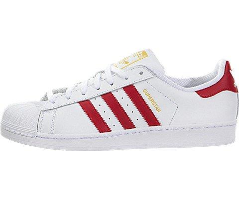 Adidas Men Superstar Foundation (white / scarlet) Size 10 US