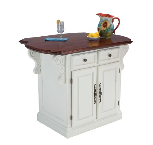 Cheap Traditions Kitchen Island by Home Styles – White Cherry (5007-94) (5007-94)