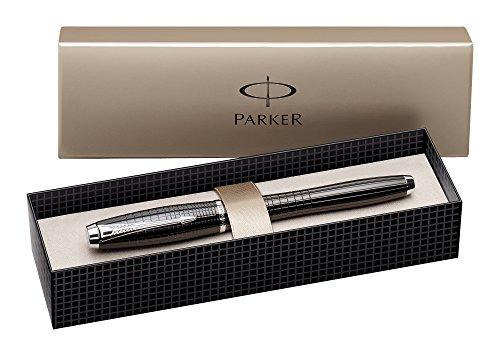 parker-urban-premium-metallic-black-chiselled-fine-nib-fountain-pen-gift-boxed