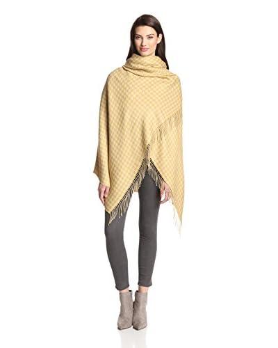 Alicia Adams Women's Alpaca Wool Wrap, Beige/Yellow