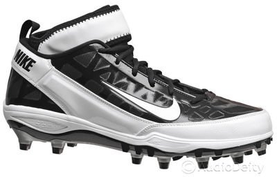 Nike Nike Air Zoom Super Bad TD Men's Molded Football Cleats Black/White (14)
