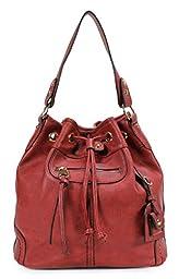Scarleton Large Drawstring Handbag H107810 - Red