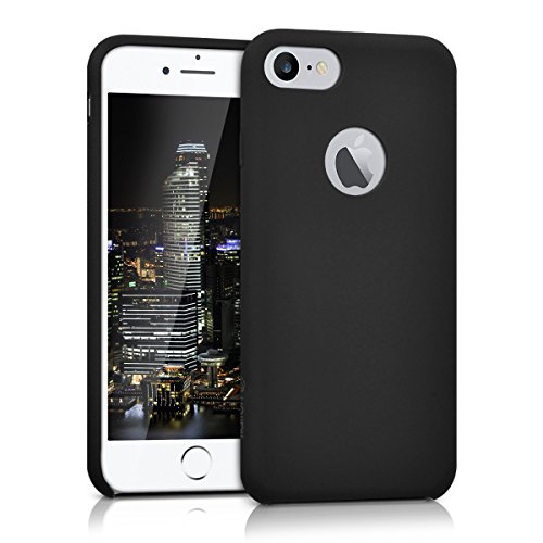kalibri-Silikon-Hlle-matt-fr-Apple-iPhone-7-TPU-Schutzhlle-Case-in-Schwarz