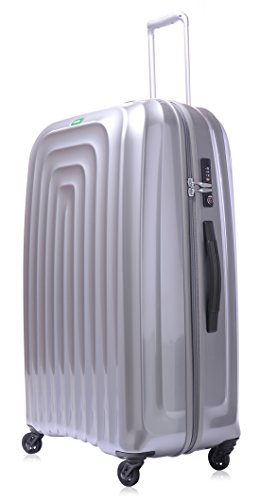 lojel-wave-polycarbonate-xl-upright-spinner-luggage-silver-one-size