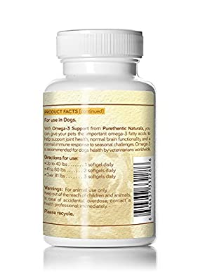 Omega 3 for Dogs, Fish Oil for Dogs 180 Softgels w/ Pure Natural Fatty Acids Dogs Love. Premium Select Grade (Puppies Adults All Breeds & Ages. Helps Allergies, Heart, Coat, Joint & Brain Function