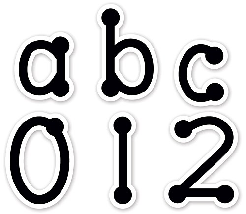 Creative Teaching Press Lowercase Letter Stickers, Black Dot-to-Dot (4633) - 1